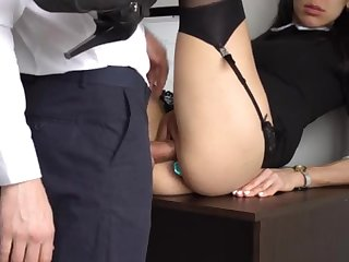 Ass Fucking Internal Ejaculation For Gorgeous Super-Bitch Assistant, Chief Smashed Her Cock-Squeezing Cooter And Culo!