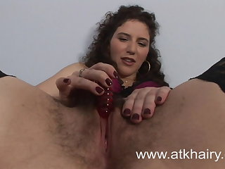 Hairy Sativa Verte Wakes Up Horny And Masturbates With Toys