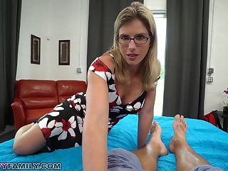 Slutty Mom Cory Chase Gives Step Son a Helping Hand and Pussy